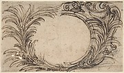 Design for a Cartouche with Foliate Decoration.