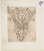 Design for a Console or Capital with a Cherub
