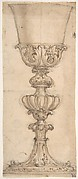 Design for a Chalice (recto); Design for the Base of a Vase (verso)
