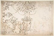 Design for One Half of a Ceiling with Elaborate Medaillons and Figures.