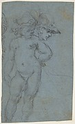 Standing Nude Putto and Study of a Helmeted Head