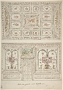 Design for the Decoration of a Wall and Ceiling of a 'Gabinetto' related to Virgil's Fourth Canto