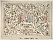 Design for a Ceiling with Decoration Related to Virgil's Sixth Canto