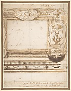 Design for a Wall Decoration with the Coat of Arms of the Borghese Family.