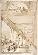 Architectural Capriccio:  A Palace Colonnade.