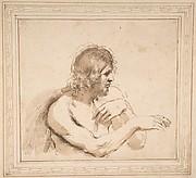 Half-Figure of a Nude Man Facing Right