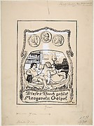 Bookplate design for Margareta Geipel