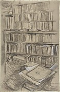Bookshelves, Study for