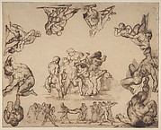 The Rescue of a Drowned Man (recto); Study of a Horse (verso)