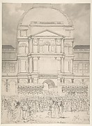 Crowd in Front of the Tuileries Palace During the Wedding of Napoleon to Marie-Louise of Austria