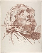Head of an Old Woman Looking Up