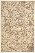 Design for Panels (Textile?) Decorated with Moresque and Knotwork Ornament