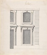 Design for a Palace Facade: detail of Windows and Doors