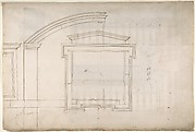 St. Peter's, apse, window, elevation (recto) Unidentified, portal, elevation (verso)