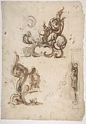 Designs for Ornamental Motifs and for a Herm Supporting a Chimney Piece