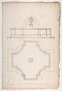 Plan and Elevation for a Fountain