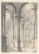 Design for Stage Set with a Circular Arcade (recto); Sketch for Stage Set with Circular Arcade (verso)