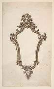 Design for a Frame in the Form of a Cartouche (Mirror?)