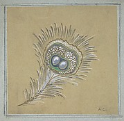 Drawing of a Feather from a Group of Designs for Silver and Jewelry by Various Artists