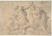 The Discovery of Romulus and Remus (recto); Three Ancient Soldiers (verso)