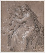 Madonna and Child (recto); Head and Bust of Saint John the Evangelist  (verso)