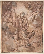 The Virgin Immaculate with the Christ Child in Glory (recto); Rinaldo and Armida (verso)