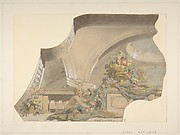 Ceiling and Cove Designs for Stairway, Hôtel Rothschild, Vienna