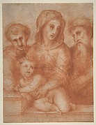 Virgin and Child with Two Saints (recto); Fragmentary Design of a Pietà (verso).