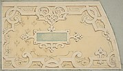 Design for the decoration of the stairway in the Chateau d'Ognon of M. de Machy (Oise, France)