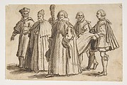 A Doge of Venice with a Cardinal, a Councillor and Servants Bearing the Train