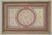 Design for a framed panel with painted decoration