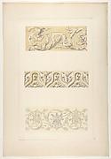 Three designs for decorative borders