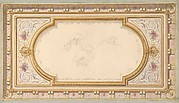 Design for a ceiling with ribbon bearing putti