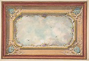 Design for a ceiling with trompe l'oeil sky