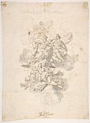 Group of Allegorical figures: Sketch for a Ceiling Decoration ?