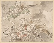 Study for the Fall of Simon Maqus, S. Paolo Maggiare, Naples, 1690