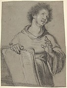 Half-Length Study of a Monk Holding a Book and a Long Implement