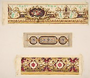 Three designs for painted borders to decorate a room