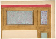 Design for woodwork and painted panels