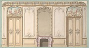 Elevation of a salon decorated in Louis XV style