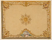 Design for a ceiling with painted decoration