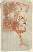Bust-Length Study of a Man Wearing a Hat in Three-Quarter View (a Frankish Nobleman).