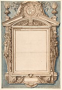 Design for the Frame of a Funerary Plaque with the Coat of Arms of Roger II de Saint Lary, Duc de Bellegarde