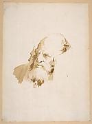 Head of a Man Wearing a High Collar