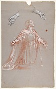 Sainte Clotilde (middle register; study for wall paintings in the Chapel of Saint Remi, Sainte-Clotilde, Paris, 1858)