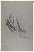 Drapery Study for a Bishop (lower register; study for wall paintings in the Chapel of Saint Remi, Sainte-Clotilde, Paris, 1858)