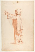 Monk (lower register; study for wall paintings in the Chapel of Saint Remi, Sainte-Clotilde, Paris, 1858)
