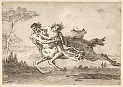 Centaur Abducting a Satyress