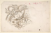 Study for the Decoration of a Vault (recto); Faint Sketches of Ornamental Patterns (verso)