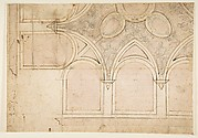 Drawing for Vasari&#39;s House in Arezzo